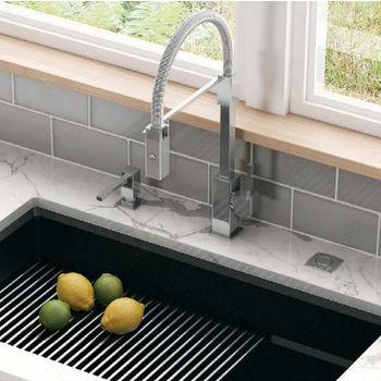 Franke Planar 8 Flex Pull Down Spray Kitchen Faucet, Polished Chrome
