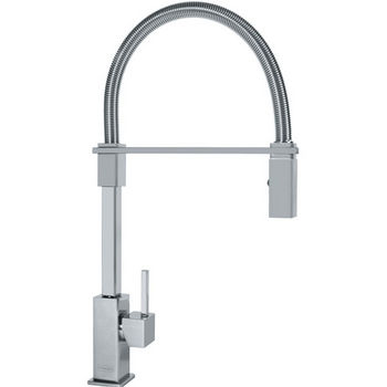 Franke Planar 8 Flex Pull Down Spray Kitchen Faucet, Satin Nickel