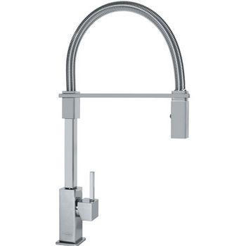 Franke Planar 8 Flex Pull Down Spray Kitchen Faucet, Satin Nickel