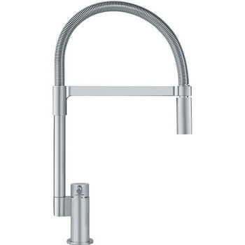 Franke Manhattan Flex Pull Down Dual Spray Kitchen Faucet, Satin Nickel
