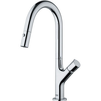 Franke Ambient Pull Out Spray Kitchen Faucet, Satin Nickel