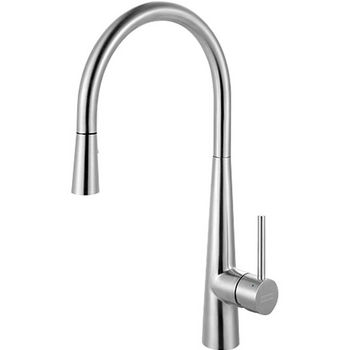 Franke Steel Pull Down Spray Kitchen Faucet, Stainless Steel