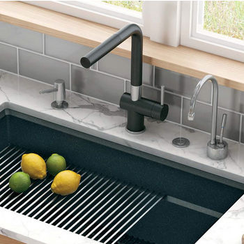 Franke Active Plus Pull Out Spray Kitchen Faucet, Fragranite Onyx