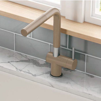 Franke Active Plus Pull Out Spray Kitchen Faucet, Fragranite Oyster
