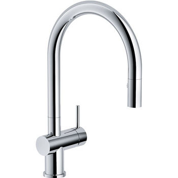 Franke Active Neo Pull Down Spray Kitchen Faucet, Polished Chrome