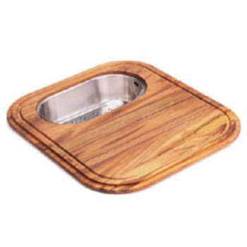 Franke EuroPro Solid Wood Cutting Board with Polished Stainless Steel Colander