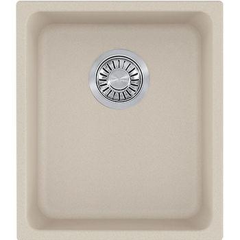 Franke Kubus Single Bowl Undermount Kitchen Sink, Granite, Fragranite Champagne