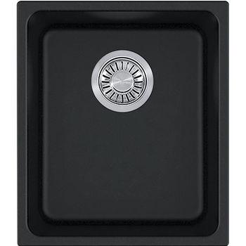 Franke Kubus Single Bowl Undermount Kitchen Sink, Granite, Fragranite Onyx