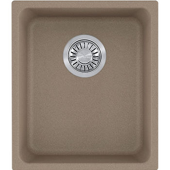 Franke Kubus Single Bowl Undermount Kitchen Sink, Granite, Fragranite Oyster