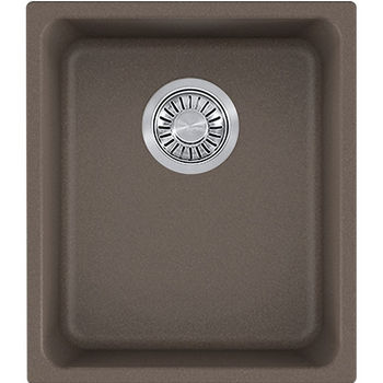 Franke Kubus Single Bowl Undermount Kitchen Sink, Granite, Fragranite Storm