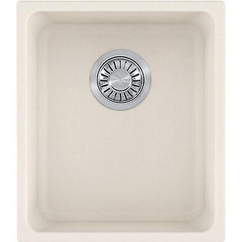 Franke Kubus Single Bowl Undermount Kitchen Sink, Granite, Fragranite Vanilla