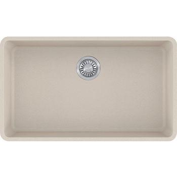 Franke Kubus Large Single Bowl Undermount Kitchen Sink, Granite, Fragranite Champagne