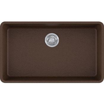 Franke Kubus Large Single Bowl Undermount Kitchen Sink, Granite, Fragranite Mocha