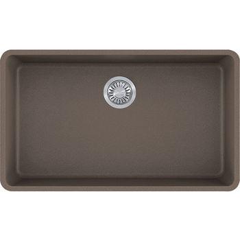 Franke Kubus Large Single Bowl Undermount Kitchen Sink, Granite, Fragranite Storm