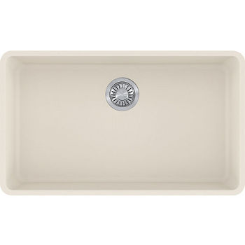 Franke Kubus Large Single Bowl Undermount Kitchen Sink, Granite, Fragranite Vanilla