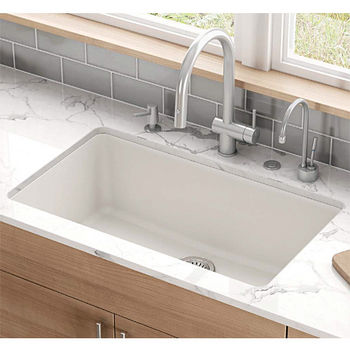 Kubus Large Single Bowl Undermount Kitchen Sink Made Of Granite Measuring 32 3 8 W X 18 1 2 D By Franke Kitchensource Com