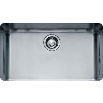 "Franke Kubus Single Bowl Undermount Sink, 18 Gauge, Stainless Steel, 28-3/4"" W x 16-7/8"" D"