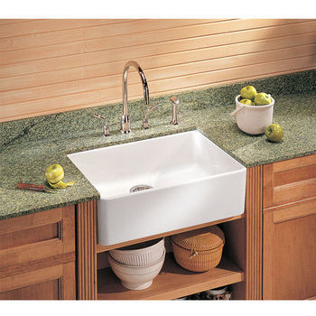 24 Apron Sink : Kitchen Sinks - Fireclay Apron Front 24
