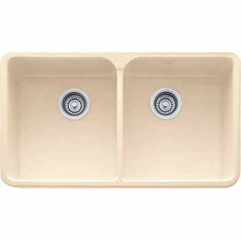 Fireclay Apron Front Double Bowl Sink