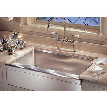 Franke Manor House Stainless Steel Apron Front Single Bowl Sink