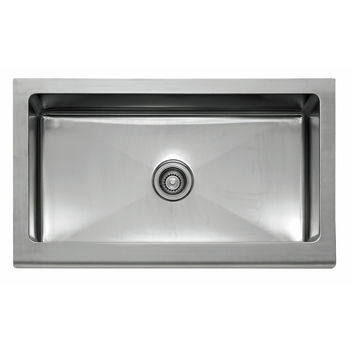 "Franke Manor House Stainless Steel 36"" Single Bowl Apron Front Sink, 36"" W x 20-7/8"" D"