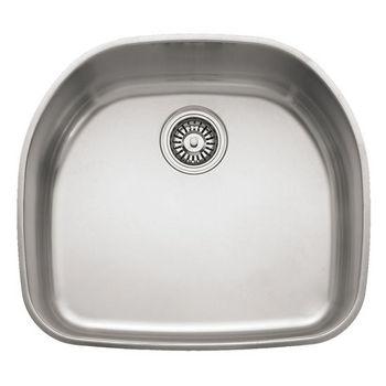 "Franke Prestige Stainless Steel Single Bowl Undermount Sink, 7-5/16"" h"