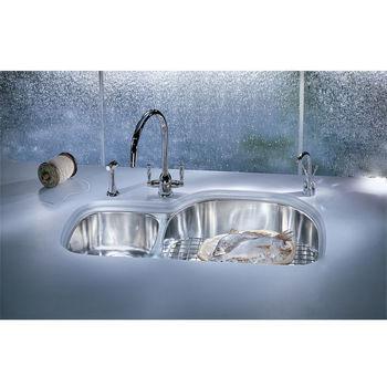 Franke Prestige Double Bowl Undermount Sinks, Left Hand