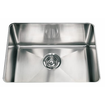 "Franke Professional Series Single Bowl Undermount Sink,16 Gauge, Stainless Steel, 22-1/2"" W x 17-5/8"" D"