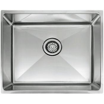 "Franke Professional Series Single Bowl Undermount Sink,16 Gauge, Stainless Steel, 25-1/2"" W x 17-5/8"" D"