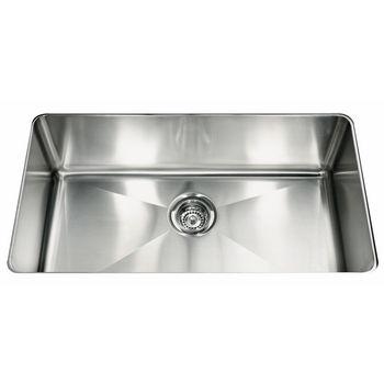 "Franke Professional Series Single Bowl Undermount Sink,16 Gauge, Stainless Steel, 31-7/8"" W x 18-1/8"" D"