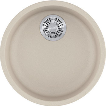 Franke Rotondo Round Single Bowl Undermount Kitchen Sink, Granite, Fragranite Champagne