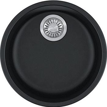 Franke Rotondo Round Single Bowl Undermount Kitchen Sink, Granite, Fragranite Onyx