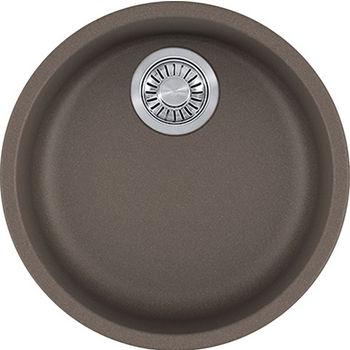 Franke Rotondo Round Single Bowl Undermount Kitchen Sink, Granite, Fragranite Storm