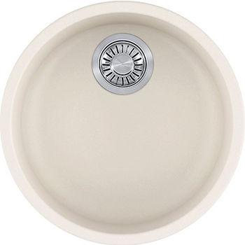 Franke Rotondo Round Single Bowl Undermount Kitchen Sink, Granite, Fragranite Vanilla