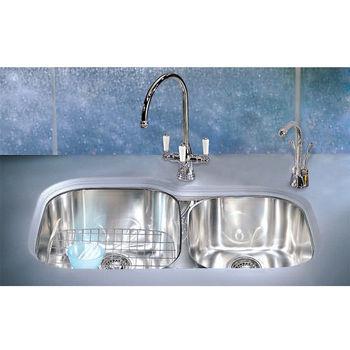 Franke Regatta Double Bowl Sink with Integral Ledge