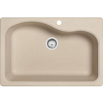 Franke Gravity Single Bowl Drop In Kitchen Sink, Granite, Fragranite Champagne