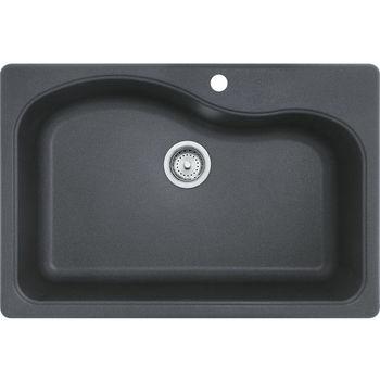 Franke Gravity Single Bowl Drop In Kitchen Sink, Granite, Graphite