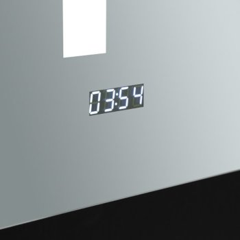 "24"" x 30"" Silver Digital Clock View"