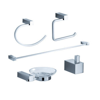 Fresca Ottimo Wall Mounted 5-Piece Bathroom Accessory Set in Chrome