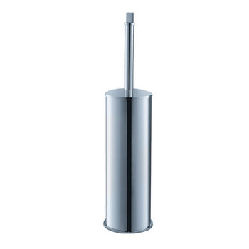 "Fresca Glorioso Wall Mounted Chrome Toilet Brush/Holder in Chrome, Dimensions: 3-3/4"" W x 3-3/4"" D x 15-3/4"" H"
