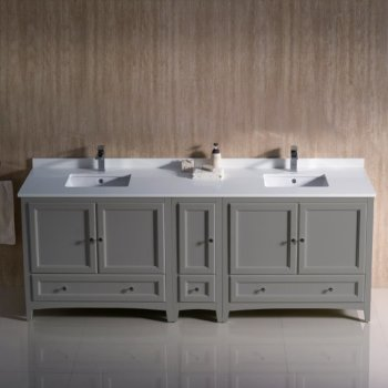 Oxford 84 Traditional Double Sink Bathroom Vanity Set By Fresca Kitchensource Com