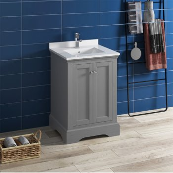 Windsor 24 Or 30 Wide Traditional Bathroom Vanity Set W