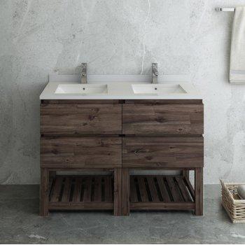 "Formosa 48"" Vanity w/ Top & Sinks Front View"