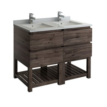 "Formosa 48"" Vanity w/ Top & Sinks Product View"