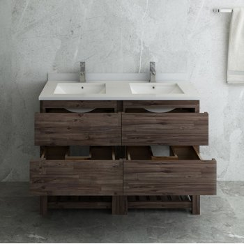 """Formosa 46"""" Vanity Base Cabinet Opened View"""
