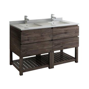 "Formosa 60"" Vanity w/ Top & Sinks Product View"