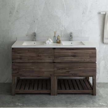 """Formosa 58"""" Vanity Base Cabinet Front View"""