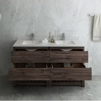 """Formosa 58"""" Vanity Base Cabinet Opened View"""