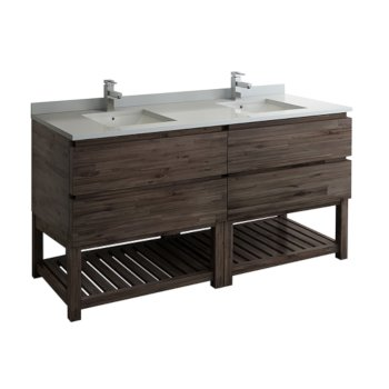 "Formosa 72"" Vanity w/ Top & Sinks Product View"