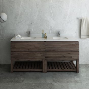 """Formosa 70"""" Vanity Base Cabinet Front View"""